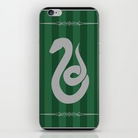 slytherin iPhone & iPod Skins featuring Slytherin by Winter Graphics