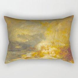 "J.M.W. Turner ""A Disaster at Sea"" Rectangular Pillow"