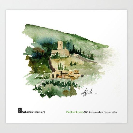 "Matthew Brehm, ""Rocca Minore, Assisi"" Art Print"