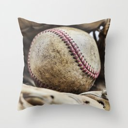 Baseball and Glove 2 Throw Pillow
