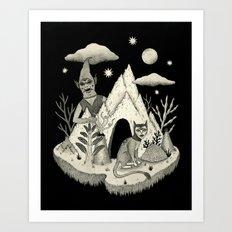 Not Alone Art Print