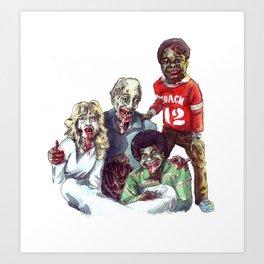 Zom'bies Strokes Art Print