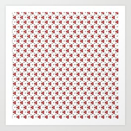Glitter Cherry Bomb Pattern Art Print