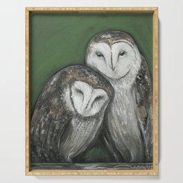 Barn Owls Serving Tray