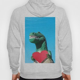 Tiny Arms, Big Heart: Tyrannosaurus Rex with Red Heart Hoody