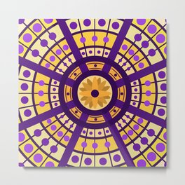 Complimentary & Symmetry - Yellow and Purple Metal Print