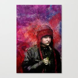 Red Hat With Snack Canvas Print