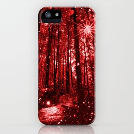 Magic Clearing Red iPhone Case