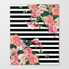 tropical flamingo Canvas Print
