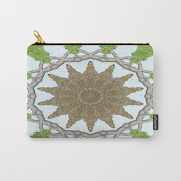Bark Leaves Stone Kaleidoscope Art 2 Carry-All Pouch