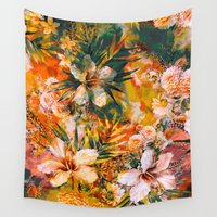 valentina Wall Tapestries featuring Tropical Summer by RIZA PEKER