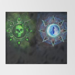 Chaos Icons - Banner Throw Blanket
