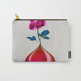 DECORATIVE FUCHSIA PEONY IN TEARDROP VASE Carry-All Pouch