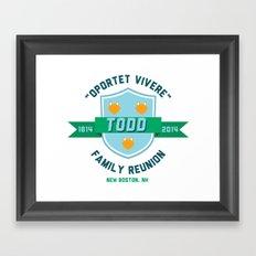 Todd Family Reunion Framed Art Print