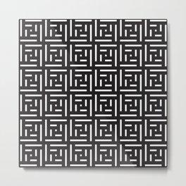 Human History (Black and White) Metal Print