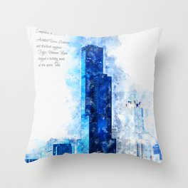Sears Tower, Chicago Throw Pillow