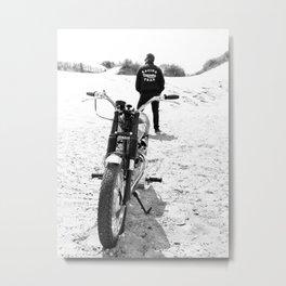 The Motorcycle Racing Team Metal Print