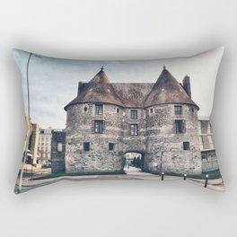 Dieppe Town Gate Towers Rectangular Pillow