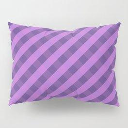 Purple plaid 3 Pillow Sham