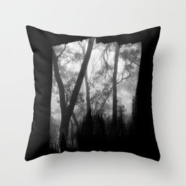 Lost in the Mist Throw Pillow