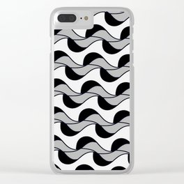 Kale 18 winter waves Clear iPhone Case