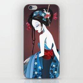 Geisha la blanche iPhone Skin