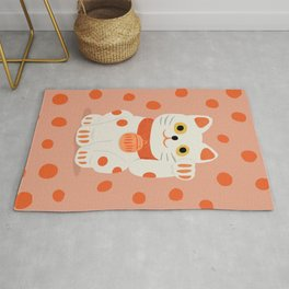 Abstraction_Lucky_Charm_Cat Rug