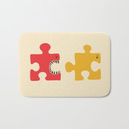 Puzzle Monster Bath Mat
