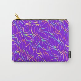 Rainbow Petals on Purple Carry-All Pouch
