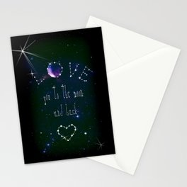 LOVE YOU GALAXY  Stationery Cards