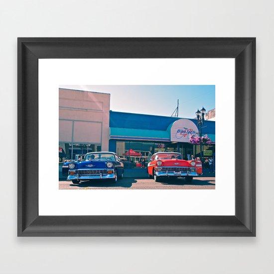 Classic Bel Airs Framed Art Print