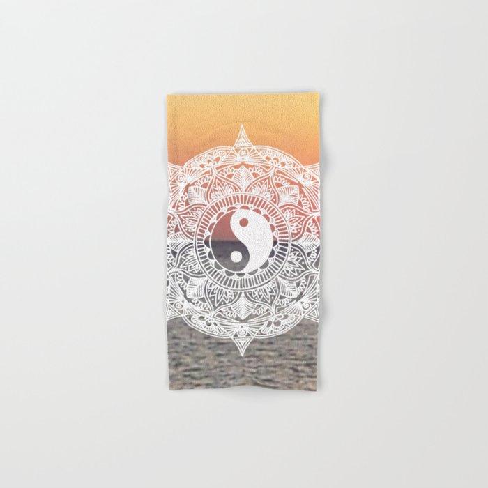Sunset Yin Yang Mandala Hand & Bath Towel