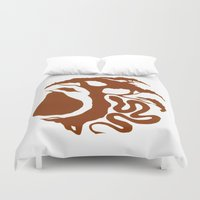 sin city Duvet Covers featuring Original Sin by Marilyn Foehrenbach
