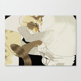 Gourdie and Pumpkin Canvas Print