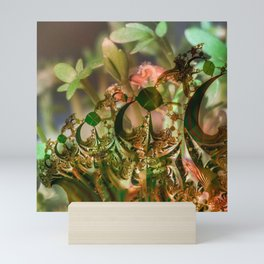 Natural and fractal seedlings Mini Art Print