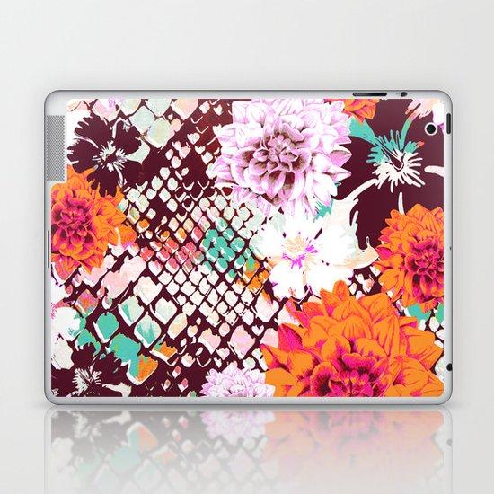 Croc Floral Laptop & iPad Skin