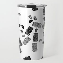 Black and White Gummy Bears Explosion Travel Mug