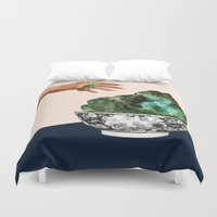 geode Duvet Covers featuring GEODE by Beth Hoeckel