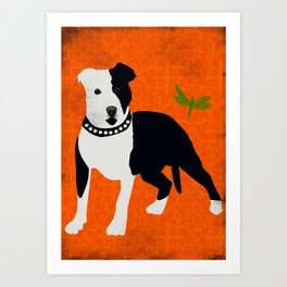 Staffordshire Bull Terrier Dog Art Print