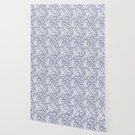 Delicious Autumn botanical poison IV // blue grey background Wallpaper