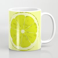 lime Mugs featuring Lime by Avigur