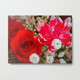 Dianthus and the Rose Metal Print