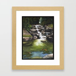 Meijer Gardens Waterfall Framed Art Print