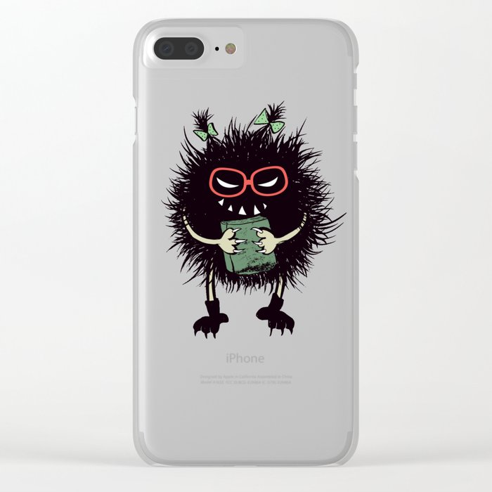 Evil Bug Student Loves To Read Clear iPhone Case