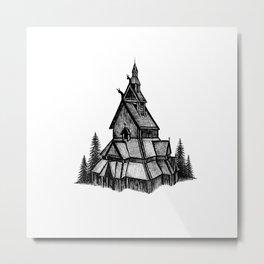 Borgund Stave Church Metal Print