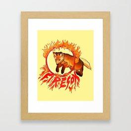 FireFox Framed Art Print