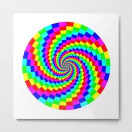 UV Sphere Top Illusion Metal Print
