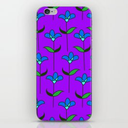 Genevieve - Purple and Blue iPhone Skin