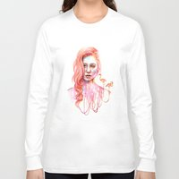 flamingo Long Sleeve T-shirts featuring Flamingo by Veronika Weroni Vajdová