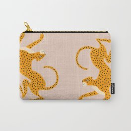 Leopard Race - pink Carry-All Pouch